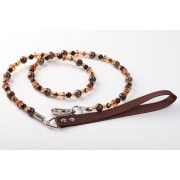 Fabuleash Leash Coffee Leopard 122CM