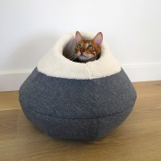 Round Cosy Plush Cat Cave- Kassi koobas