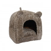 Brown Teddy Bear Cat Bed - Kassivoodi
