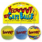 Yeowww! My Cats Balls 3 Pack - Kassi pallid 100% Catnip